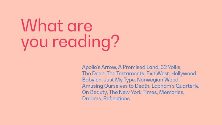 What are you reading right now for creative inspiration? See more Trollbäck+Company staffer answers here 👇https://t.co/q...
