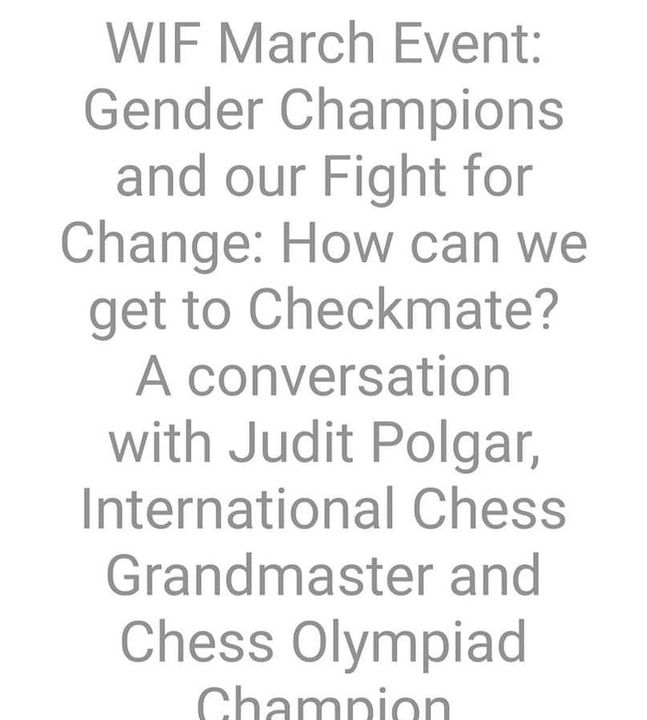 #iwd2021 Choose to Cahallenge! We had a truly interesting and illuminating 1 hour with Judit Polgar who joined us from B...