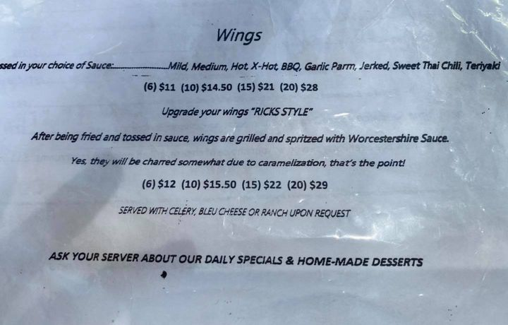 It's Pub Grub day.  We are going to try Rick's Style wings...Stay tuned for details!