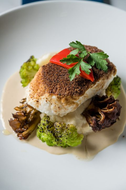 Chef's signature creation...Wild Mushroom Crusted Halibut...is back @TheDrakeLaguna 👨🍳 Start your week off right with t...