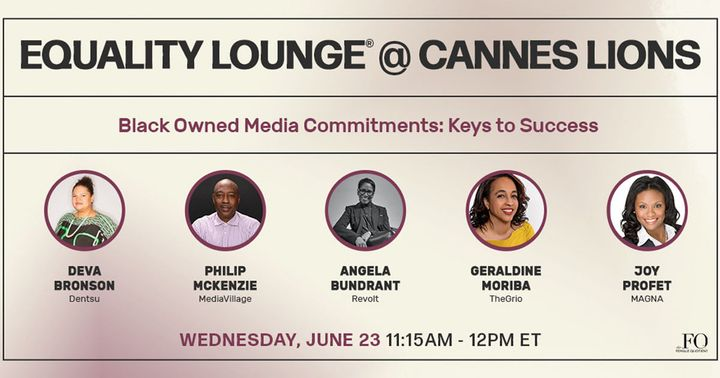 RSVP now for the Equality Lounge® @ Cannes, presented by The Female Quotient and taking place between Monday June 21 and...
