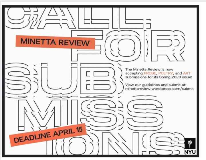 We're still accepting submissions for our Spring 2020 issue! Send us your prose, poetry, and art at minettareview.wordpr...