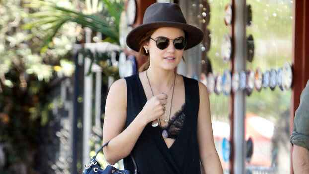 Lucy Hale Artfully Exposes Her Lacy Bralette While Grabbing Breakfast in L.A. @InStyle  http://www.instyle.com/news/lucy...
