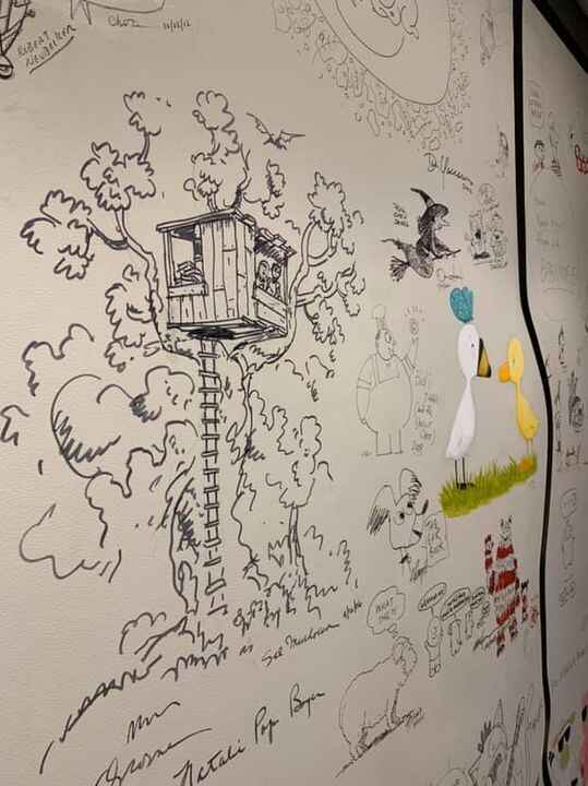 So fun visiting the illustration wall at RandomHouse, one of our awesome publishers!