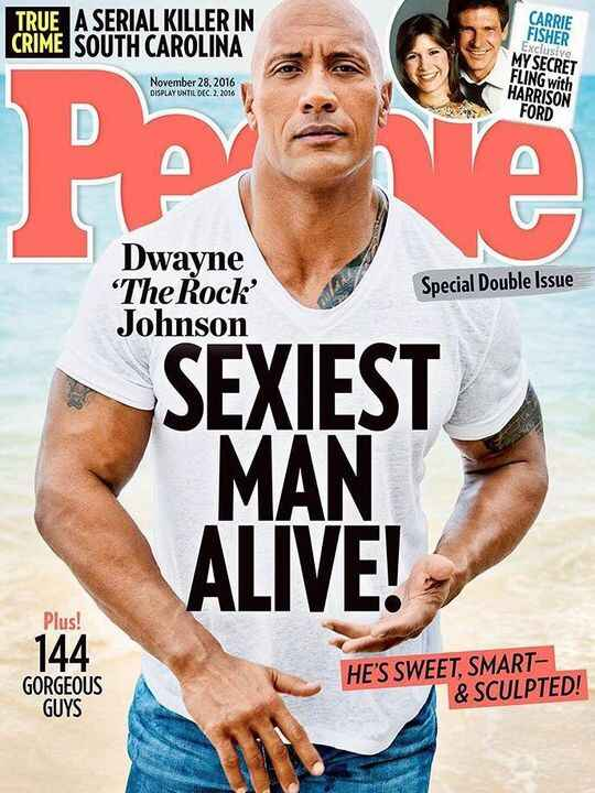 #DwayneJohnson AKA #TheRock has been announced #PeopleMagazine's 2016 #SexiestManAlive! He joins a hot list of previous ...