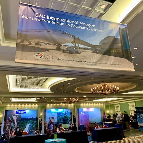 Some work we did for our client SBD International Airport in San Bernardino got prime placement at the recent AEEC show ...