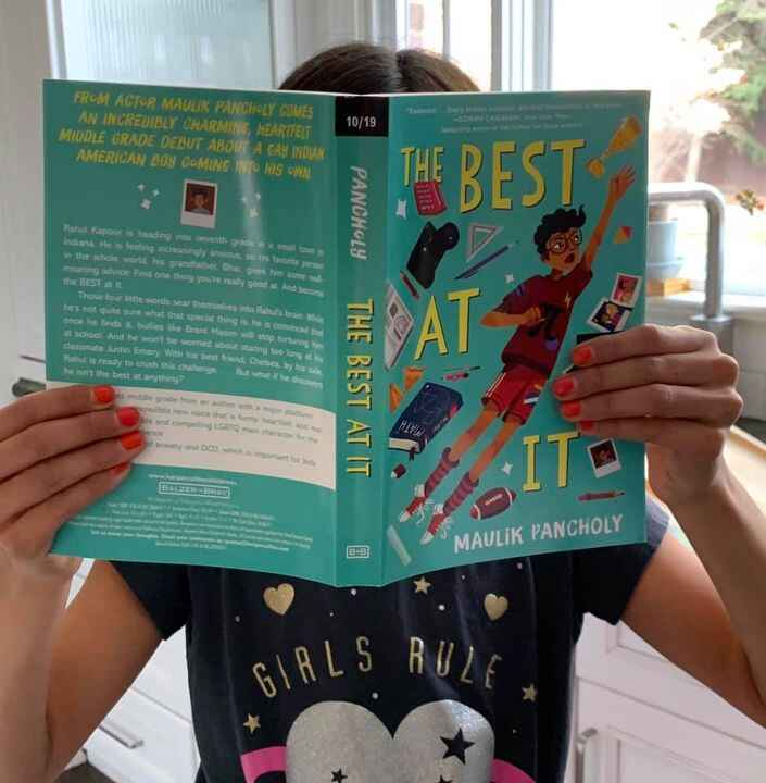 Look what just arrived!! Advanced reader copies of BEST AT IT by Maulik Pancholy!!!! Rave reviews over here.