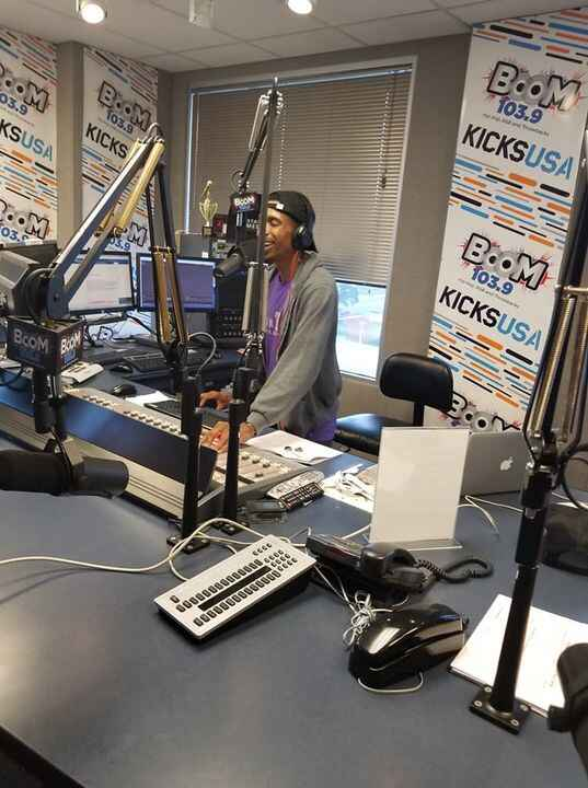 Live at #BOOM1039 with #onairwithsir #kyahbaby #reyna #working ...#rtheoryproductions #1122mmg