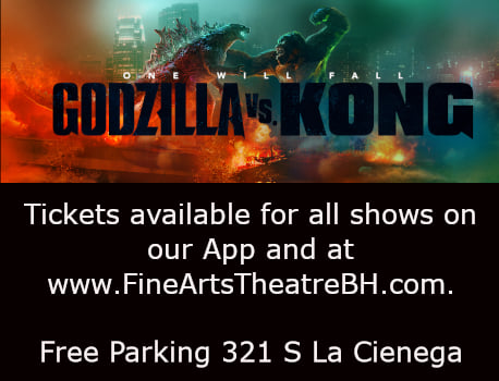 Now playing at the Fine Arts Theatre in Beverly Hills.
