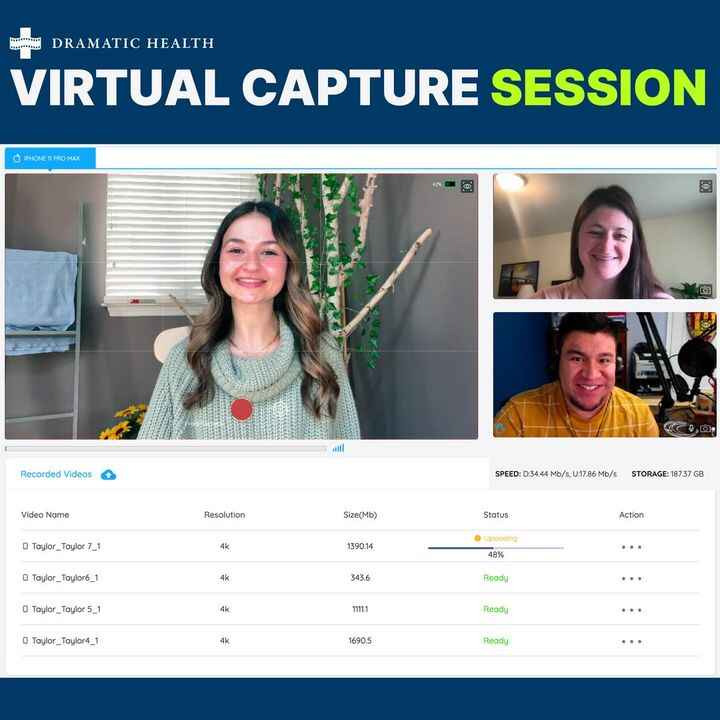 """Everyone is all smiles on our virtual """"set"""". We make Virtual Capture video production a stress-free experience for all i..."""