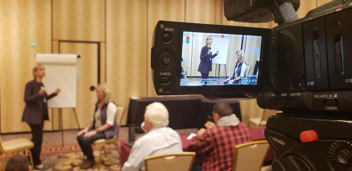 On location in Vegas last week , filming some excellent trainings