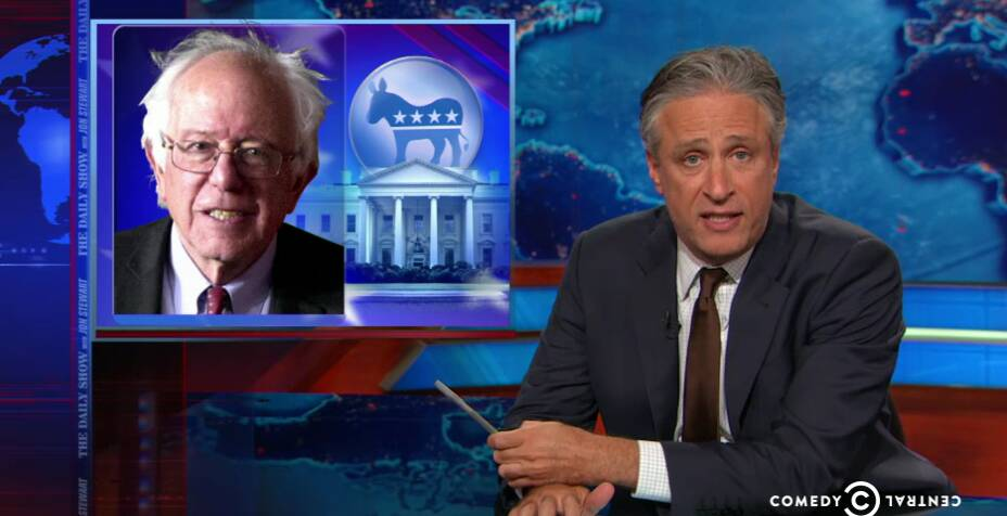 The Daily Show Blasts The Media For Dismissing Bernie Sanders' Presidential Campaign