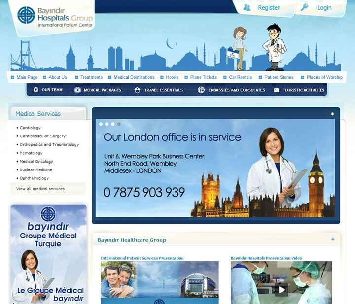 The English website of Bayindir Healthcare Group was launched! This is the Official English Website of the Group.