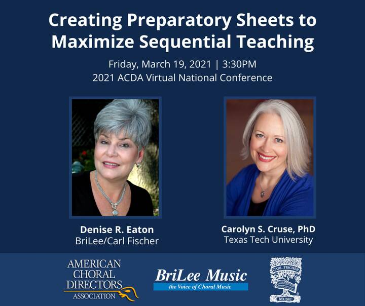 Tomorrow, join choral editor Denise Eaton and Dr. Carolyn Cruse for a session that will improve your effectiveness in th...
