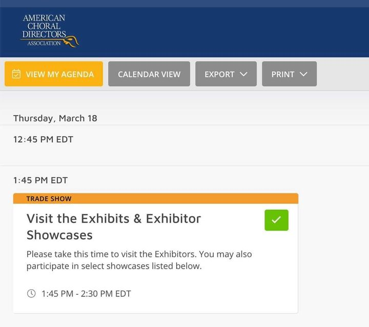 Are you attending the American Choral Directors Association (ACDA) virtual conference this week?Visit our exhibit (link ...