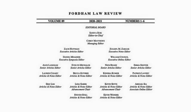 We are so very proud to announce the Editorial Board of Volume 89! It has been a pleasure working with these dedicated a...
