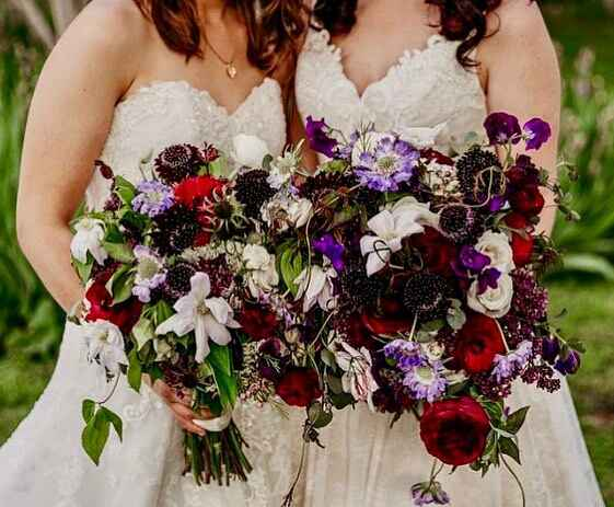 """""""We each had six bridesmaids and Laura had one brides 'man'.""""  Ashley and Laura met at a friend's 21st birthday dinner, ..."""