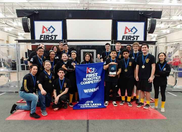 The Bay Shore High School Robotics team is celebrating two major accomplishments they've achieved at this point in the 2...