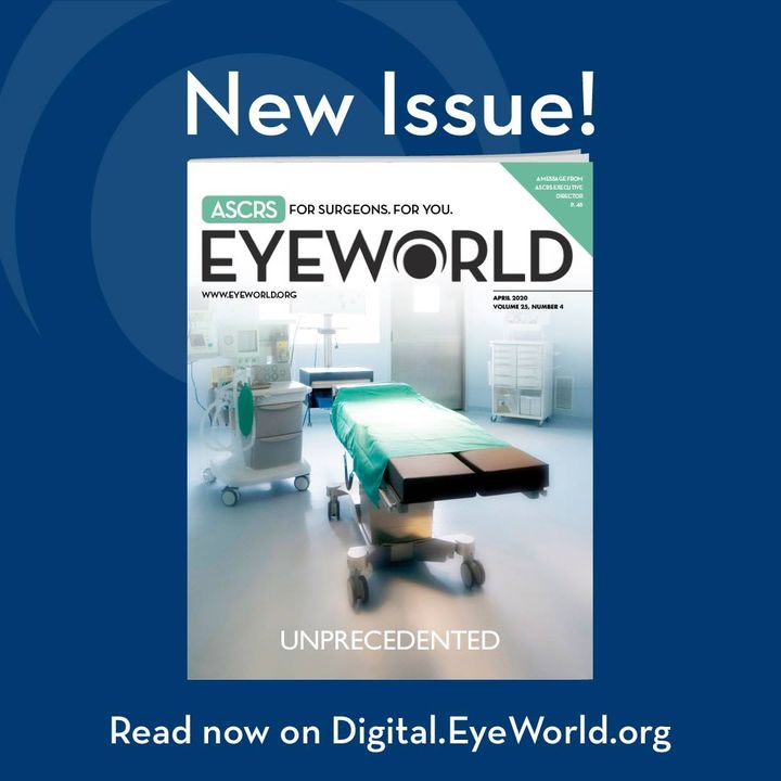 The latest issue of EyeWorld is now available online with updates on #COVID19 as well as clinical articles. http://digit...