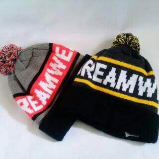 "READY STOCK .POM BEANIE HAT ""ORANGE"" & ""BLACK""Tag REXAR DREAM WEARIDR 90Kmore info :BBM : 7EBE8E4FHP : 0838-574-98648"