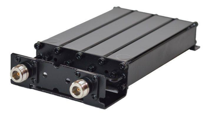The #BandPassFilter Micro-4201-C4 consists of 4 quarter wavelength cavities. The housing is made of extruded aluminium, ...
