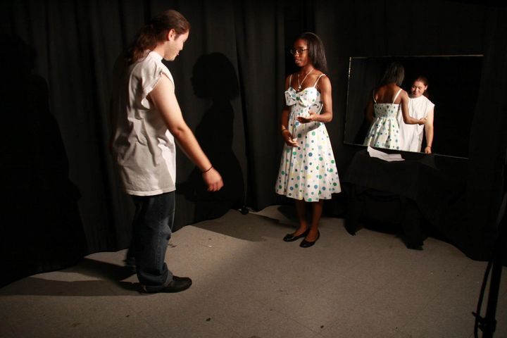 Purpose Productions experimented with lighting and actor positioning today as we got our feet wet (or drenched) in our r...