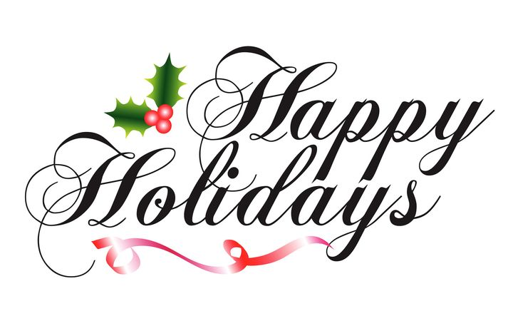 Happy Holidays to all and Happy New Year!!!