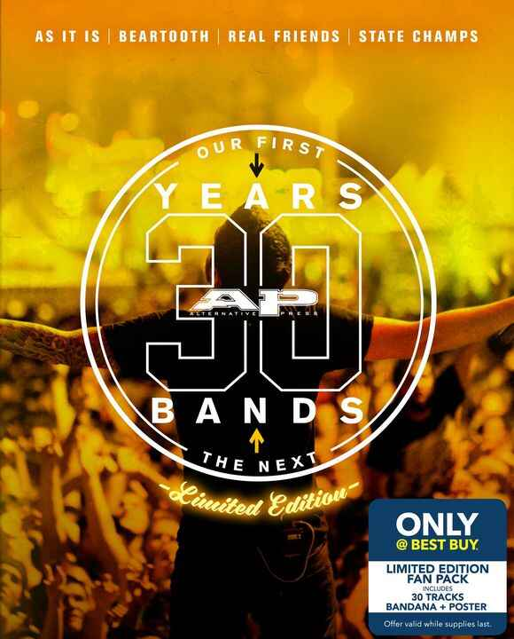 It's out! Go to your local Best Buy and pick up the 30th Anniversary Alternative Press Fan Pack! It includes a bandana, ...