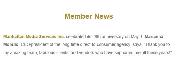 As seen in June 2nd PDMI Weekly Newsletter, an amazing recognition for MMSI for our 26th Anniversary!