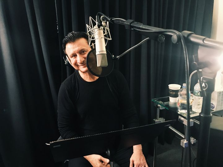 So THIS guy was in the last couple of days. 7am starts recording live & taped radio interviews. The new album sounds...e...