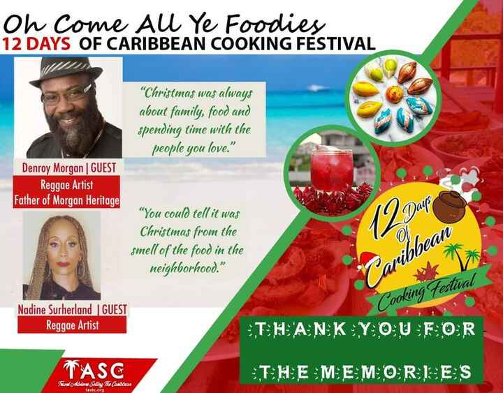 Two legendary Caribbean artistes were guests on the 12 Days of Caribbean Cooking Festival. Visit TASTC.org to watch all ...