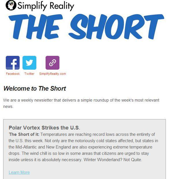 Simplify Reality has just launched 'The Short' our weekly newsletter that is delivered to your inbox every Friday mornin...