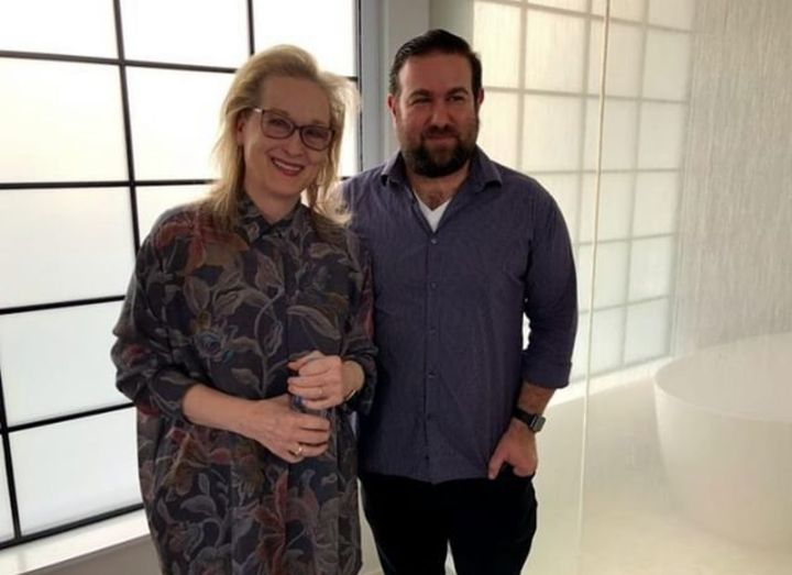 Behind the scenes with Meryl Streep and our team! Watch now on STARZ.  #feminism #documentary #filmmakaing #hollywood #s...