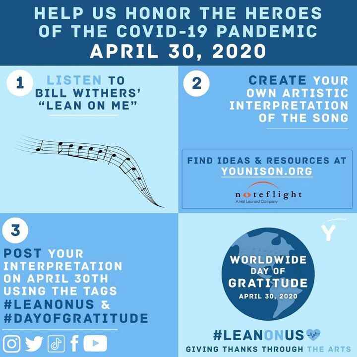 Most proud of Hannah Melillo and her fellow students behind this project #leanonus #dayofgratitude #musicindustry #music...