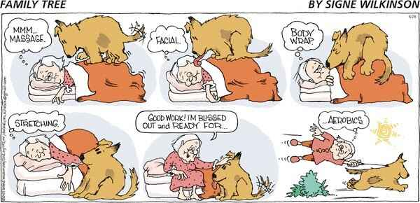 Just found this old Sunday comic strip.  Now that I  am a grandmother (with a rather smaller dog, Toony), I wish I had a...