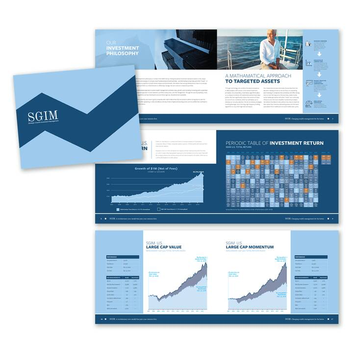 Freshly completed brochure for a wealth management company.