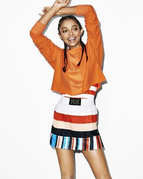 Rock a preppy statement mini with your comfiest #sweatshirt for next level cool vibes. Stick to the same color scheme fo...