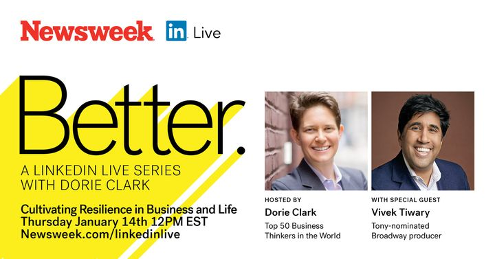 CALLIN' ALL FANS + SUPPORTERS! TOMORROW THURS JAN 14  at 12pm EST, our Vivek J. Tiwary will be on Newsweek's Better seri...