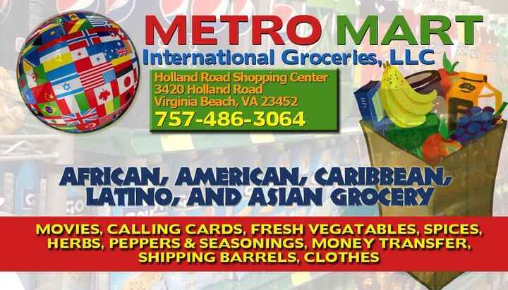 Business Card Design (Front Side) for our client Metro Mart, located in Virginia Beach, VA. Need advertising done? Give ...