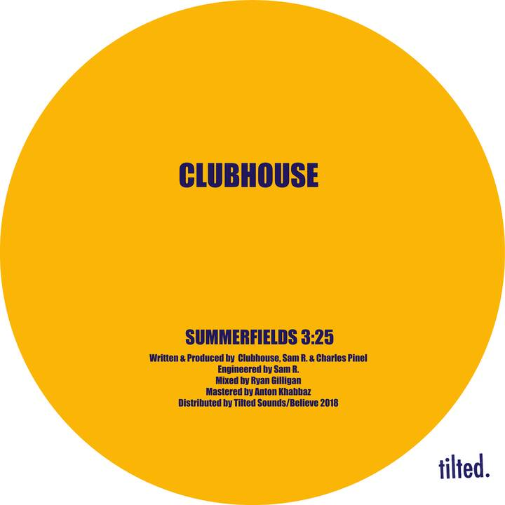 """""""Summerfields,"""" the new single from Clubhouse is out now! Stream it directly on Spotify:  https://spoti.fi/2EJ4GYE"""