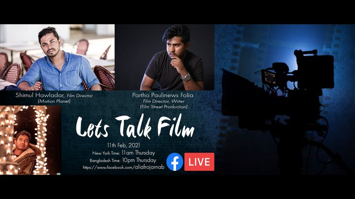 Lets Talk Film. Hosting a virtual hangout with some amazing filmmakers. Guest of the first show will be an iconic film d...
