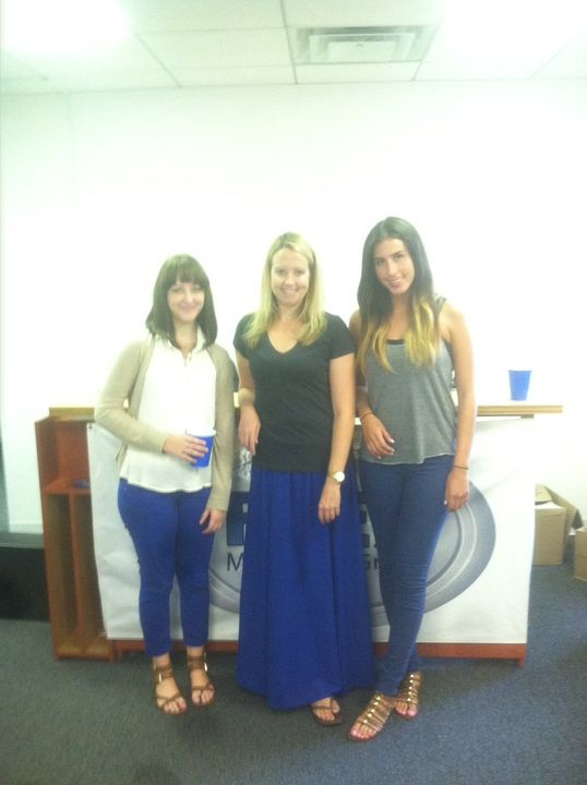 we don't require any sort of uniform at the office, but we love the enthusiasm today girls! Who's got a good a caption?
