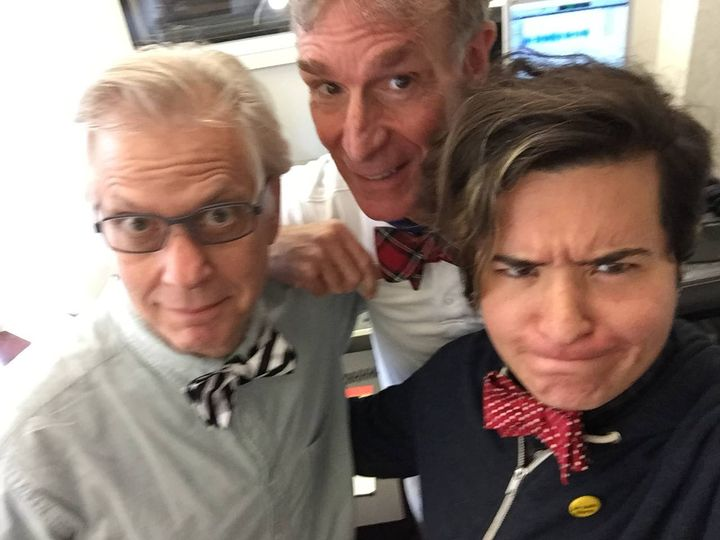 Goofing around with Bill Nye the Science Guy. :)