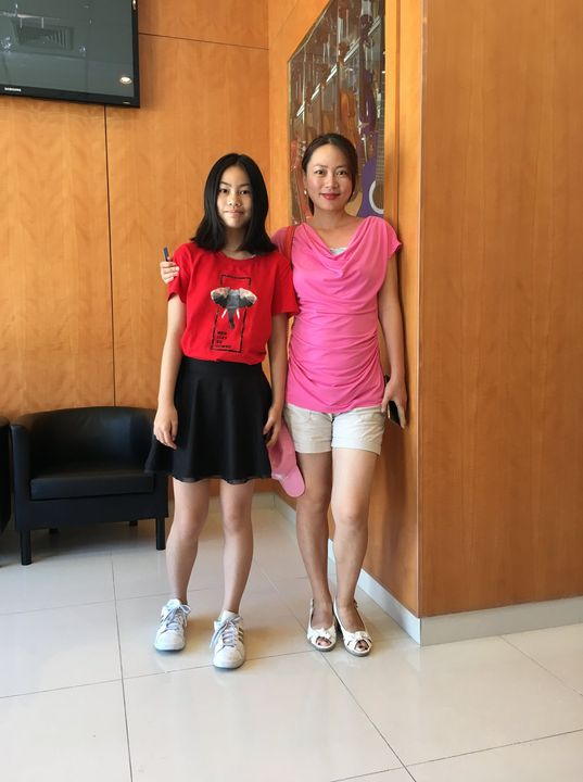 All smiles after first piano lesson!New student Rola Lin with her mother Sandy at Amadeus Elmhurst lobby.Summer is a gr...
