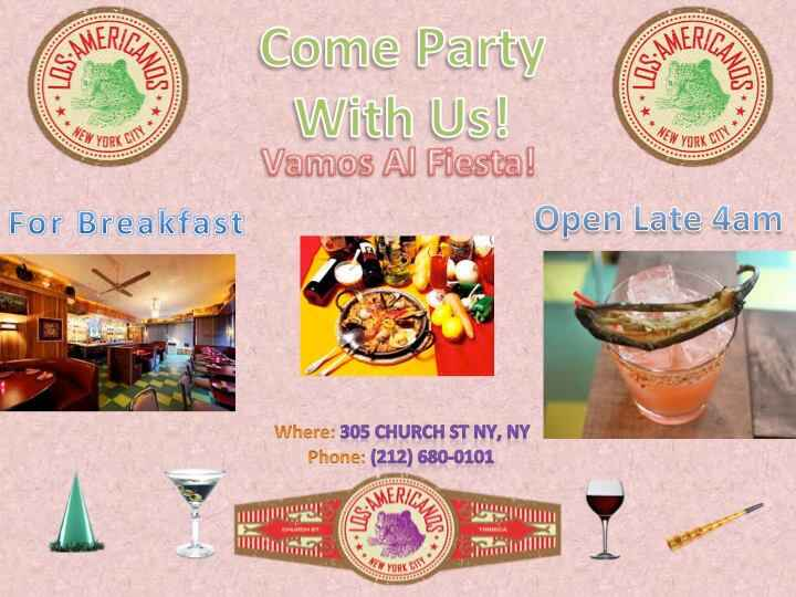 Come to Los Americanos for some delicious drinks and dishes in NYC! #OpenLate #Vamos #NYChttp://losamericanos.com/
