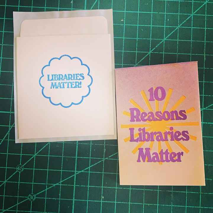 """Another reader has been brought into the """"fold"""" #librariesmatter #lists #zines #risozine #risograph"""