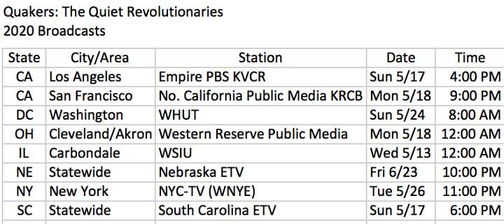 These are the first stations to broadcast. We have many more signing up.
