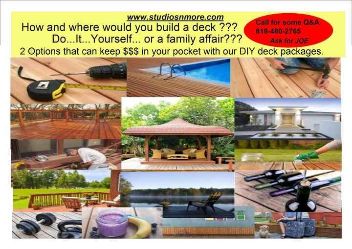 ~~~To Deck or Not to Deck~~~ 3 winners will be selected and receive 25% off one of our custom DIY #deckyourself packages...