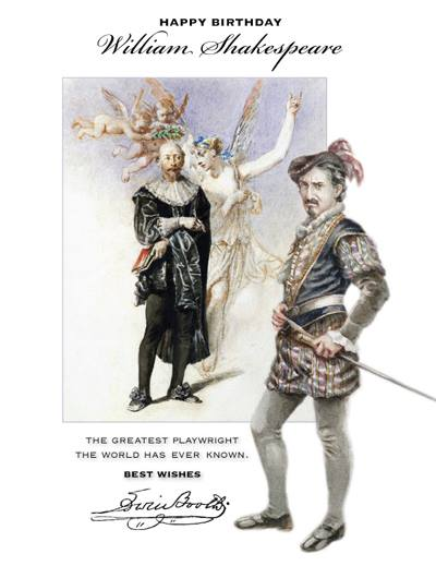 In honor of  William Shakespeare's birthday, we're  proud to announce that EDWIN, The Story of Edwin Booth--which chroni...