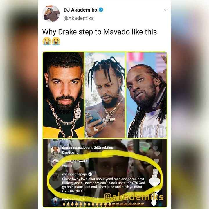 So in the meantime in our #dancehall 🤯 #913bx #drake #mavado #popcaan controversy